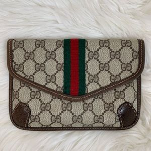 Gucci Shelly Pouch Clutch Small Authentic Vintage